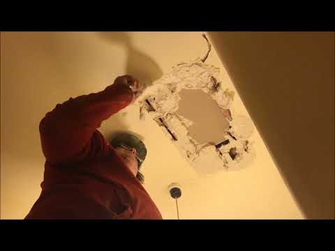 Hole in Lath and Plaster Ceiling Repair