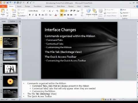 PowerPoint 2010: Speaker Notes