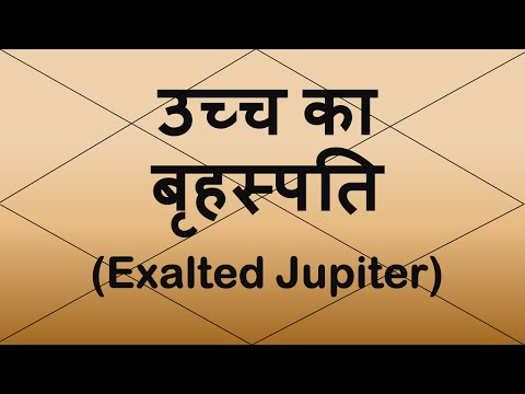 Exalted Jupiter (उच्च का  बृहस्पति)  | Vedic Astrology | Hindi