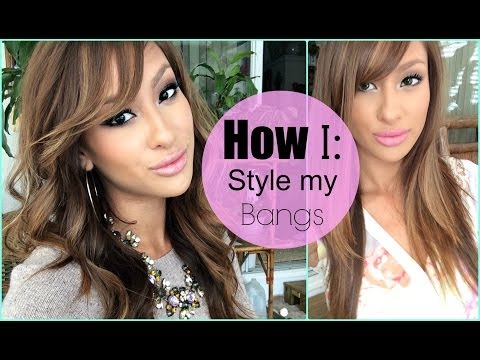 How to style your bangs!!! EASY!