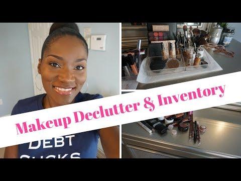 Makeup Declutter & Inventory Spring 2018   Organic Foundation Dark Skin   Simple Beauty/Living