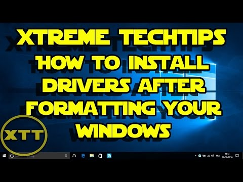 How to install drivers after formatting your windows