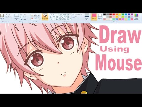 ✿ How I Draw Anime using Mouse on MS Paint (。◕‿◕。)