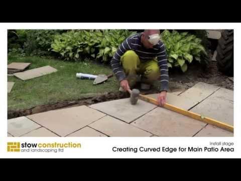 Gullane Case Study #1 - Creating Patio Curved Edge