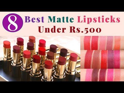 8 Best Matte Lipsticks Under ₹500   Best Matte Lipsticks In India