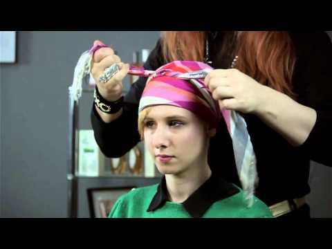 How to Tie a Silk Head Scarf : Short & Fabulous Hair