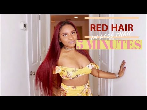 HOW TO: Dye Hair RED with NO BLEACH!   Loreal HiColor Magenta & Red