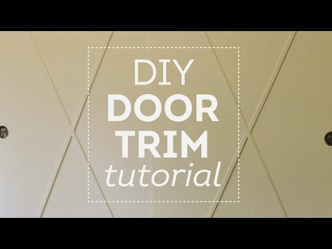 DIY Closet Door Trim Tutorial: Cottage House Flip Episode 3