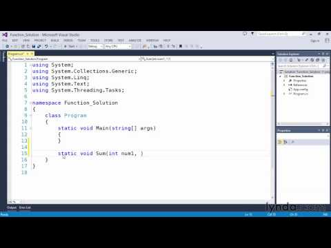 03 15 Solution Add two numbers with a function  C# Language Elements