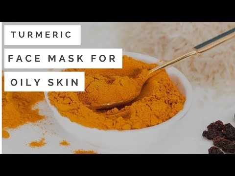 Turmeric face mask for oily skin # removes acne # clean skin#homemade