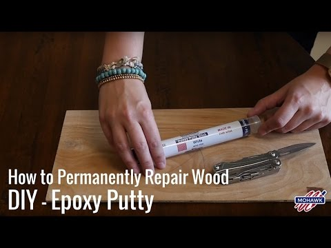 How to Permanently Repair Wood DIY - Epoxy Putty