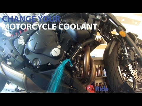 How To Flush Your Motorcycle Coolant - Change Motorcycle Radiator Coolant