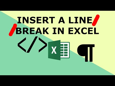 Add line breaks within Excel cells -Excel keyboard shortcuts