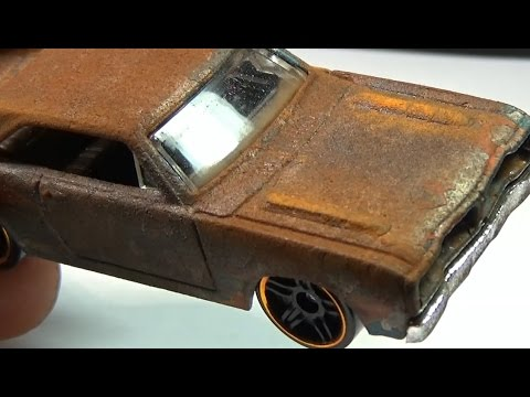 How to apply a rust effect to a Hot Wheels custom