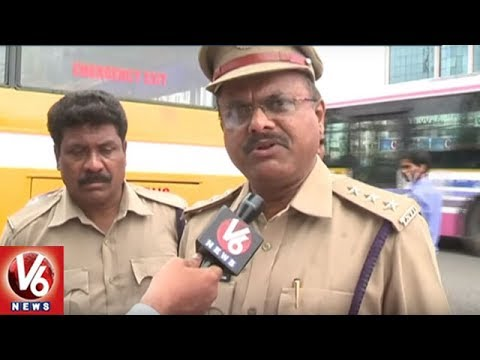 RTA Officials Focus On School Bus Fitness, Seized 32 Buses | Hyderabad | V6 News