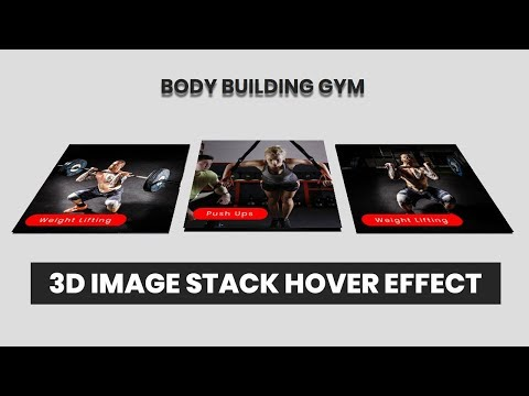 3D Image stack Hover Effect | CSS3 Animation Snippets