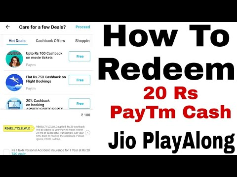 How To Redeem 20Rs Free PayTm Cash By Jio