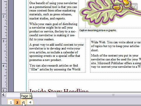 View Document as a Two-Page Spread in Publisher 2007