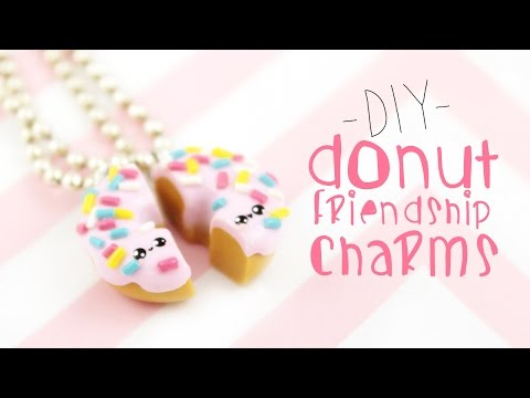 ♡ DIY  Donut Friendship Necklaces ♡  | Kawaii Friday