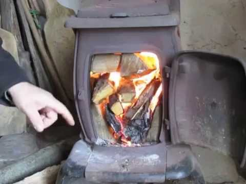 The Best Way to Make a Fire in Your Woodstove