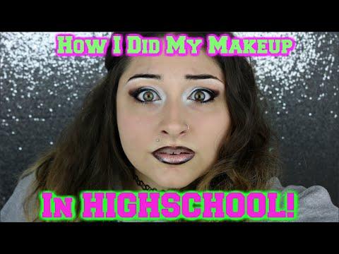 OMG ! How I Did My Makeup In High School Challenge   BAD!   BeautyByJosieK