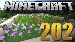 Mega Farm de Flores - Minecraft Em busca da casa automática #202.