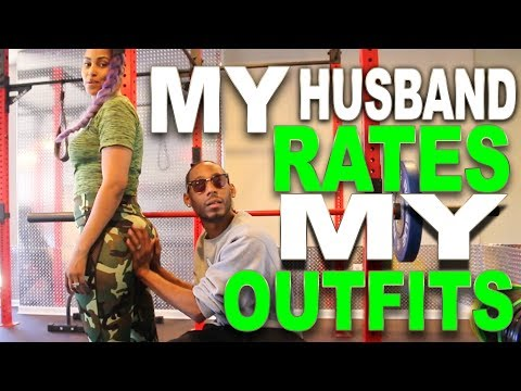 HILARIOUS HUSBAND RATES MY WORKOUT OUTFITS 😂 #KhrisandChina