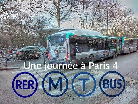 Une journée à Paris 4 - RER, Tramway, Métro, Bus (RATP)