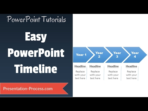 How to create easy Timeline in PowerPoint