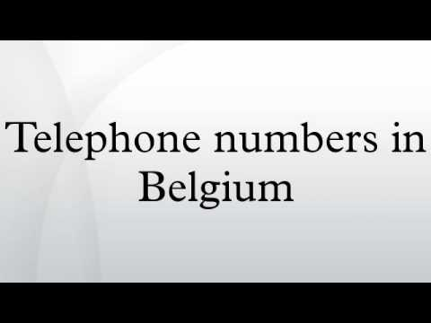 Telephone numbers in Belgium