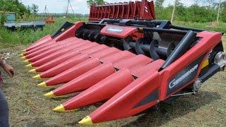 Жатки для уборки кукурузы и подсолнечника. Технология No-Till. КФХ Владимира Гавриленко