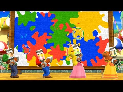 Mario Party 9 - Blooper Beach (Luigi Gameplay/Hard Difficulty)
