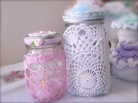Retro Craft: Quick and Easy Doily Decorated Jar