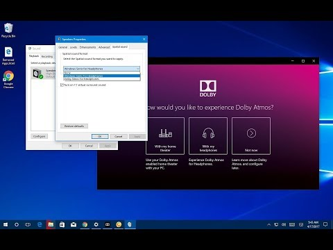 How to set up spatial sound with Dolby Atmos on Windows 10