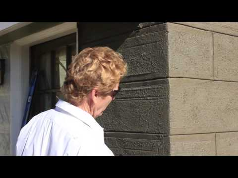 Teaching Plastering to look like concrete blocks or cast stones