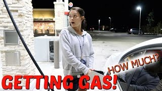 GETTING GAS + DRIVE WITH ME! PREPARING OUR HOME TO SELL! EMMA AND ELLIE