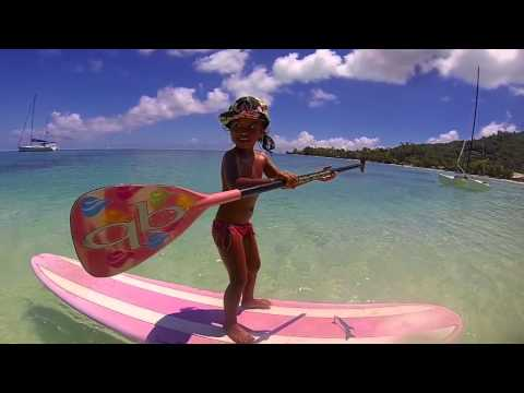 How to standup paddle with 4 year old Kiara Goold