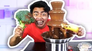 CHOCOLATE FONDUE CHALLENGE!