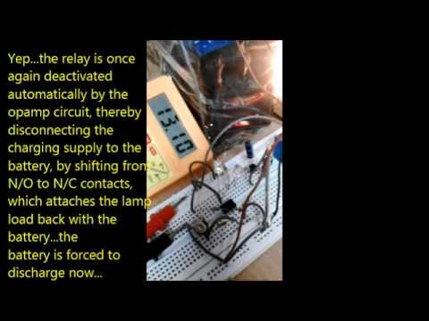 Testing an Automatic 12V Battery Charging Procedure