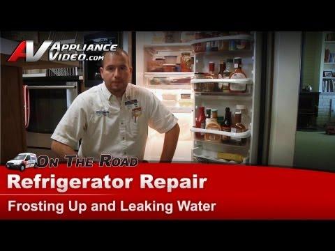 Refrigerator Repair Frosting & leaking water -Kitchenaid, Whirlpool,Maytag,Roper,Kenmore,Sears,Amana