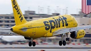 Spirit Airlines engine failure: Spirit plane spewing parts after Detroit takeoff  - TomoNews