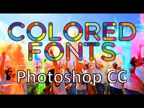 How to use Colored fonts in Photoshop CC