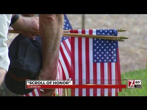 Clemson veterans honored at Scrolls of Honor Memorial Park