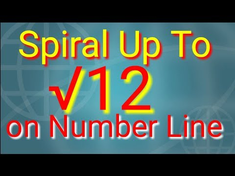 Construct a square root spiral up to root 12