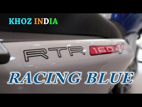 RACING BLUE NEW APACHE RTR 160 4V 2018 EDITION