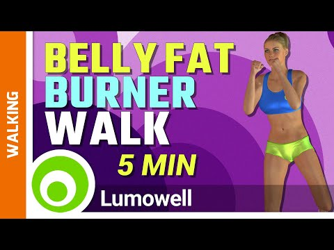 5 Minute Belly Fat Burner Walk At Home!