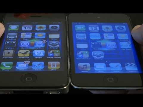 Apple iPod touch 4th Gen vs iPhone 4 vs 2nd Gen iPod touch