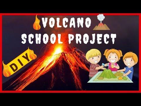 VOLCANO SCHOOL PROJECT ACTIVITY EASY DIY
