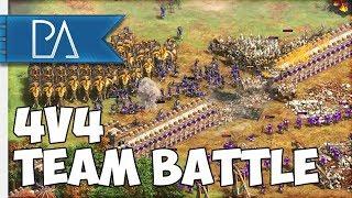 FUN 4v4 TEAM BATTLE! - Regicide - Age of Empires II: Definitive Edition