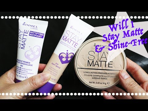 [Ist Impressions] Rimmel Stay Matte Collection (Primer, Foundation & Powder Teseted!)